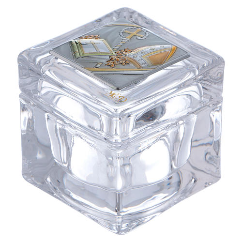 Box-shaped party favour for Confirmation 5x5x5 cm 1