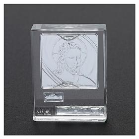 Bonbonnière religieuse cadre visage de Jésus 5x5 cm s3