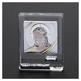 Religious favor picture Face of Christ 2x2 in s2