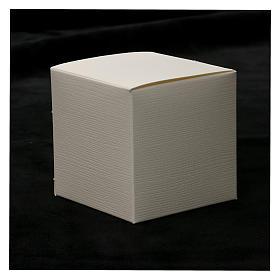 Bomboniera Cresima cristallo e lamina argento 5x5 cm s4