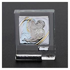 Bomboniera Sacra Famiglia quadretto lamina argento 5x5 cm s6