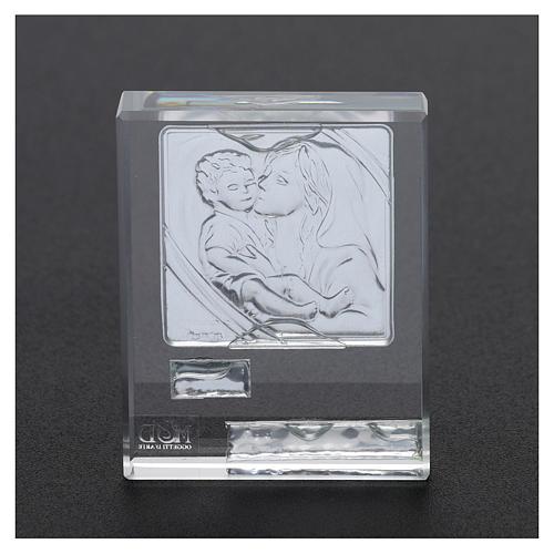 Bomboniera Sacra Famiglia quadretto lamina argento 5x5 cm 7