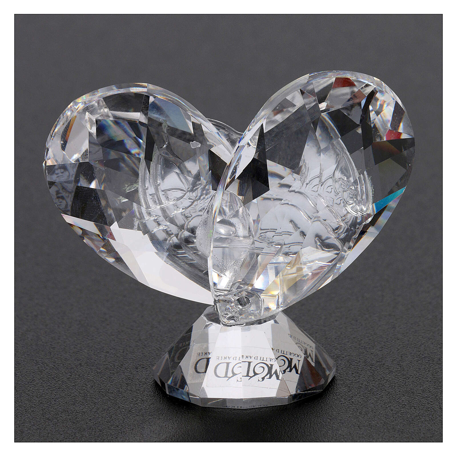 Heart shaped ornament Guardian Angels 2x2 in 3