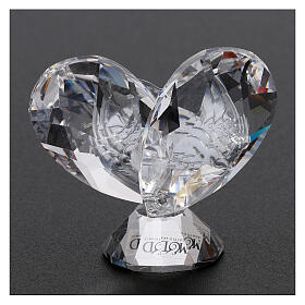 Heart shaped ornament Guardian Angels 2x2 in s3