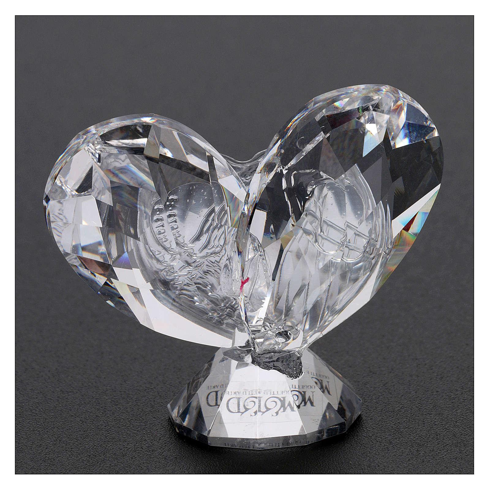 Bomboniera cuore Sacra Famiglia 5x5 cm 3
