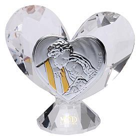Bomboniera cuore Sacra Famiglia 5x5 cm s1