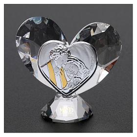 Bomboniera cuore Sacra Famiglia 5x5 cm s2