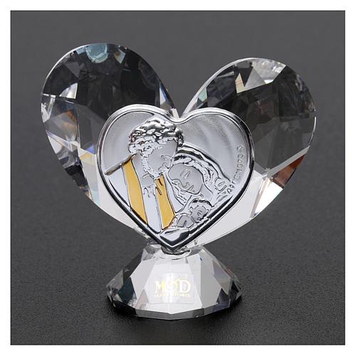 Bomboniera cuore Sacra Famiglia 5x5 cm 2
