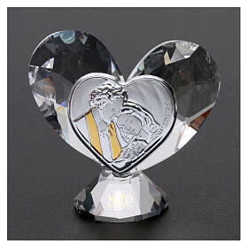 Heart shaped ornament Holy Family 2x2 in s2