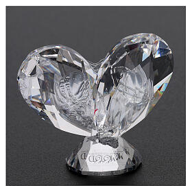 Heart shaped ornament Holy Family 2x2 in s3