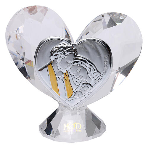 Heart shaped ornament Holy Family 2x2 in 1