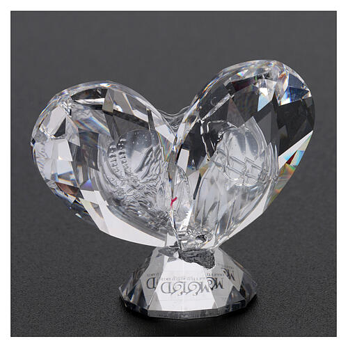 Heart shaped ornament Holy Family 2x2 in 3