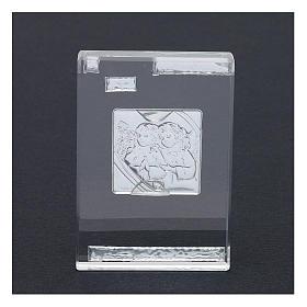 Bonbonnière religieuse cadre avec Anges Gardiens 10x5 cm s3