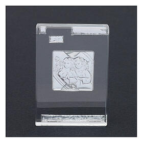 Rectangular crystal frame with Guardian Angels 4x2 in s3