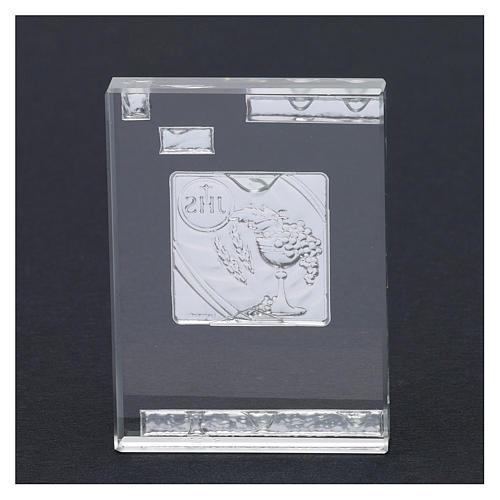 Bombonera Primera Comunión con símbolos 10x5 cm 3