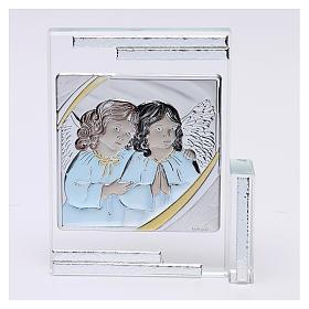 Idea regalo cuadro con base Ángeles de la Guarda 10x10 cm