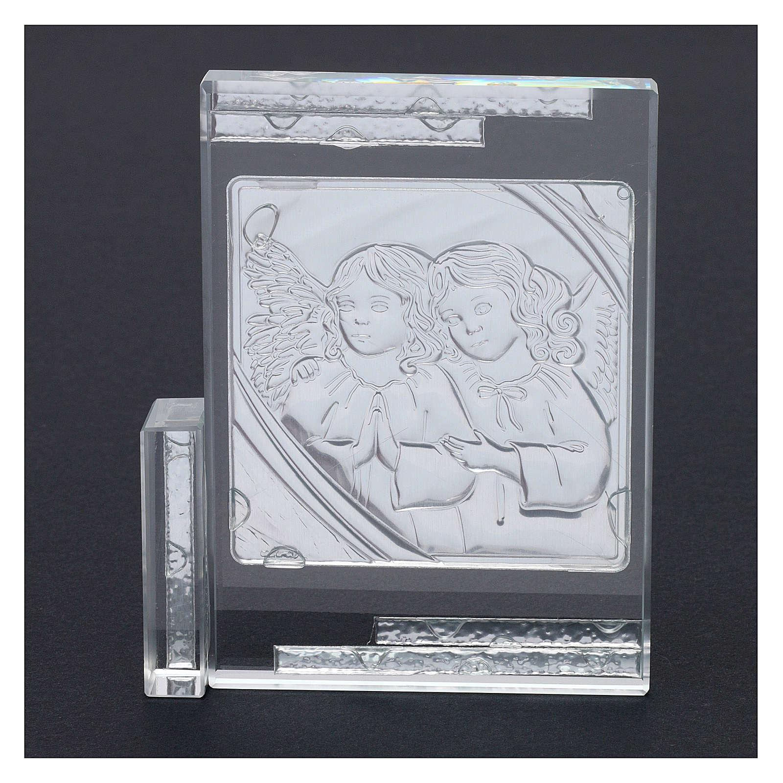 Idea regalo quadro da appoggio Angeli Custodi 10x10 cm 3