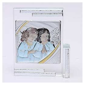 Idea regalo quadro da appoggio Angeli Custodi 10x10 cm s1