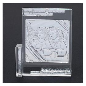 Idea regalo quadro da appoggio Angeli Custodi 10x10 cm s3
