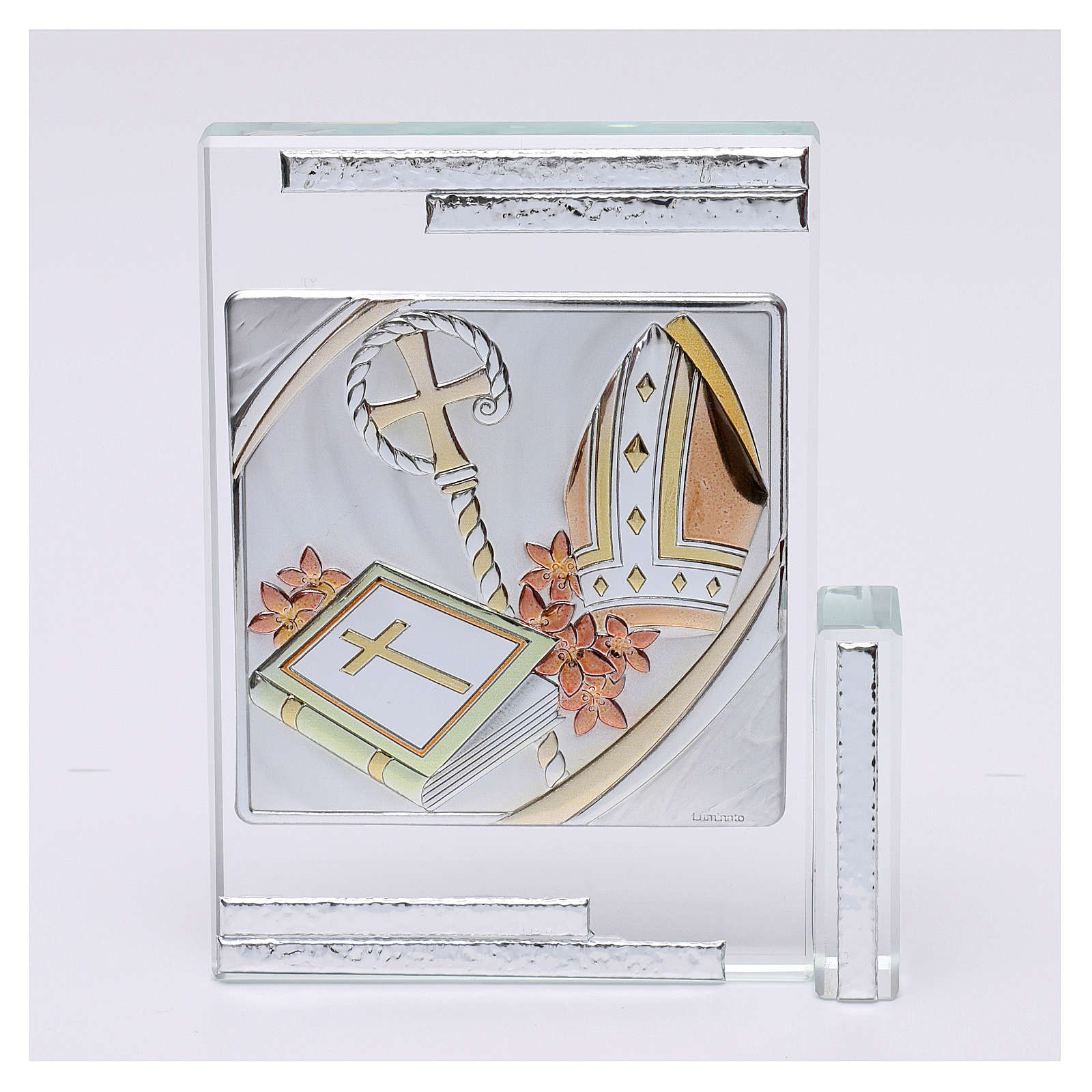 Idea regalo per la Cresima cristallo 10x10 cm 3