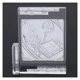 Idea regalo per la Cresima cristallo 10x10 cm s3