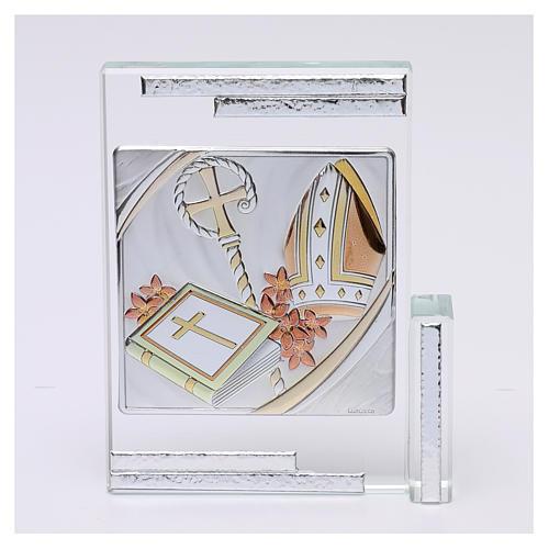 Idea regalo per la Cresima cristallo 10x10 cm 1