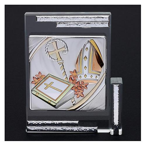 Idea regalo per la Cresima cristallo 10x10 cm 2