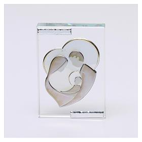 Bomboniera Sacra Famiglia stilizzata quadretto 10x5 cm s1