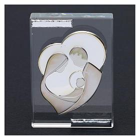 Bomboniera Sacra Famiglia stilizzata quadretto 10x5 cm s2