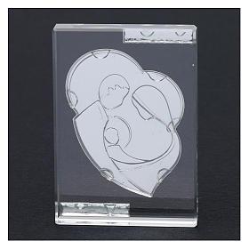 Bomboniera Sacra Famiglia stilizzata quadretto 10x5 cm s3