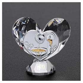 Heart-shaped party favour for Baptism 5x5 cm s2