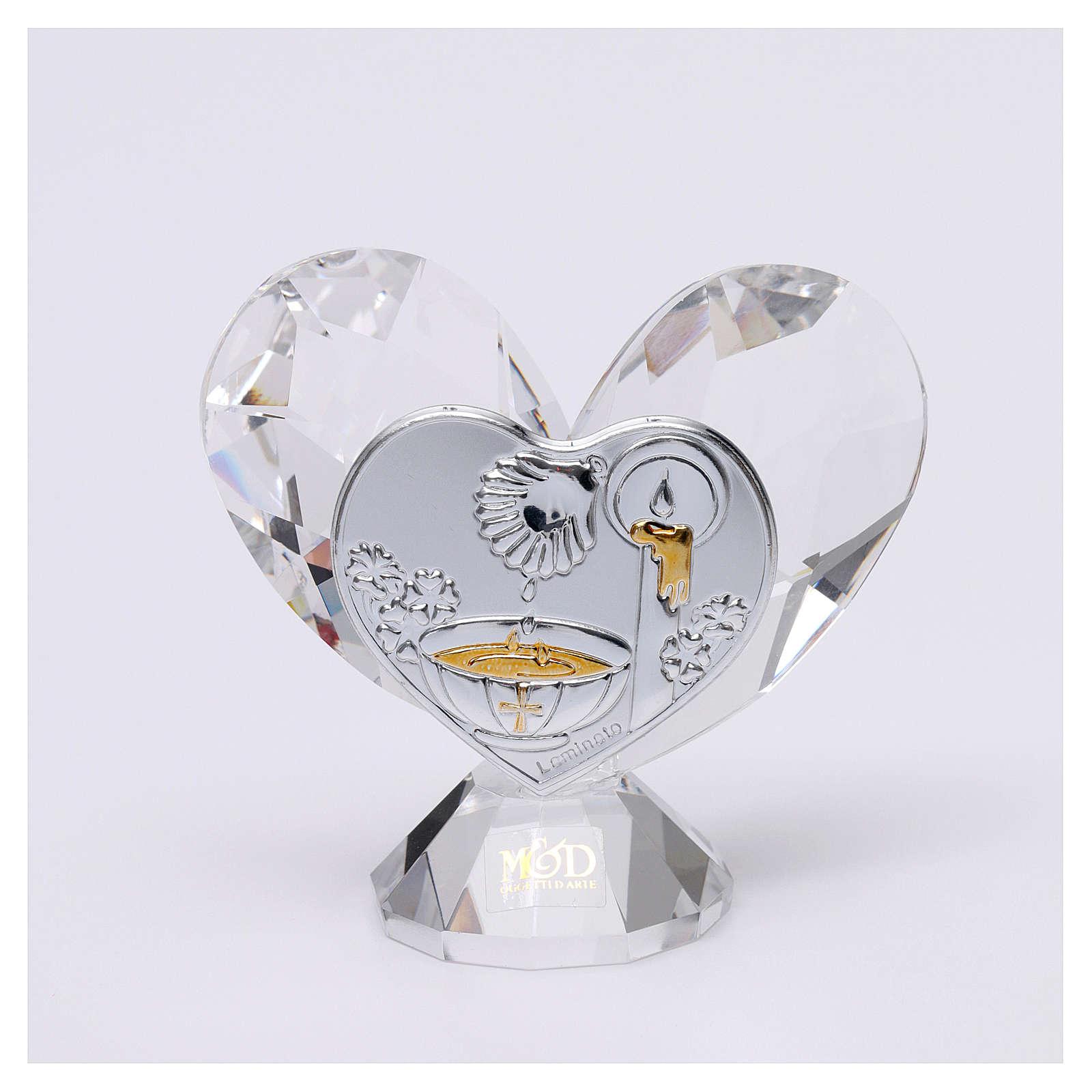 Bomboniera Battesimo cuore 5x5 cm 3