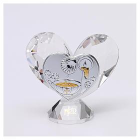 Bomboniera Battesimo cuore 5x5 cm s1