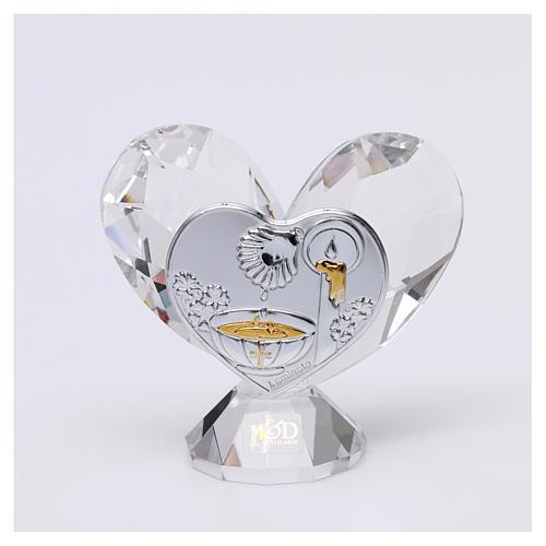 Bomboniera Battesimo cuore 5x5 cm 1
