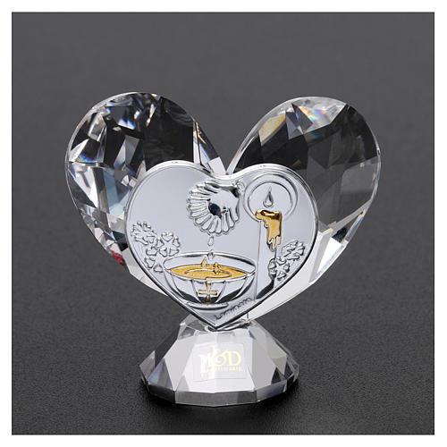 Bomboniera Battesimo cuore 5x5 cm 2