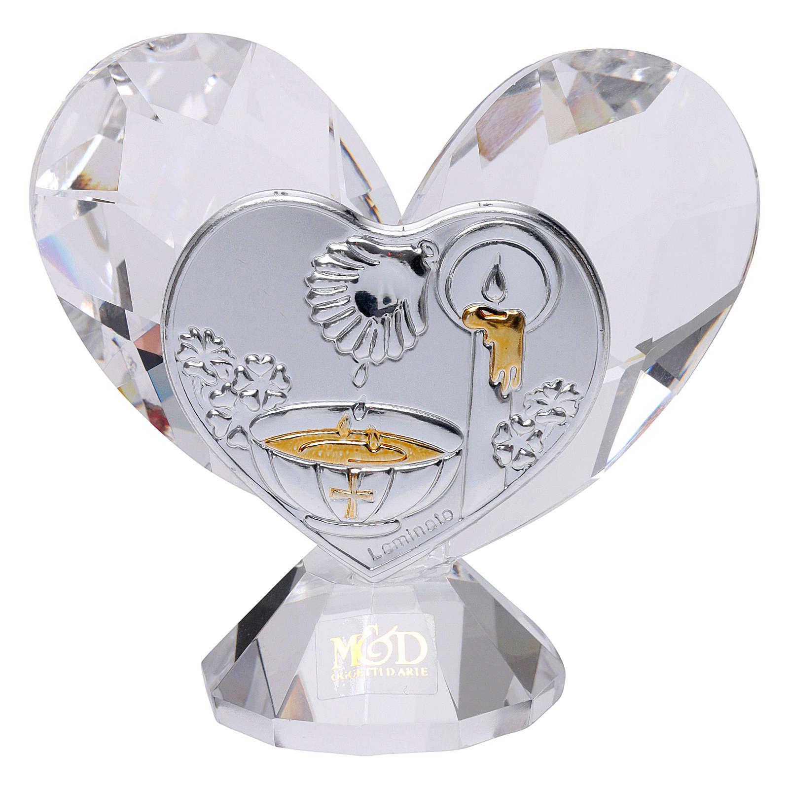 Pamiątka Chrztu serce 5x5 cm 3