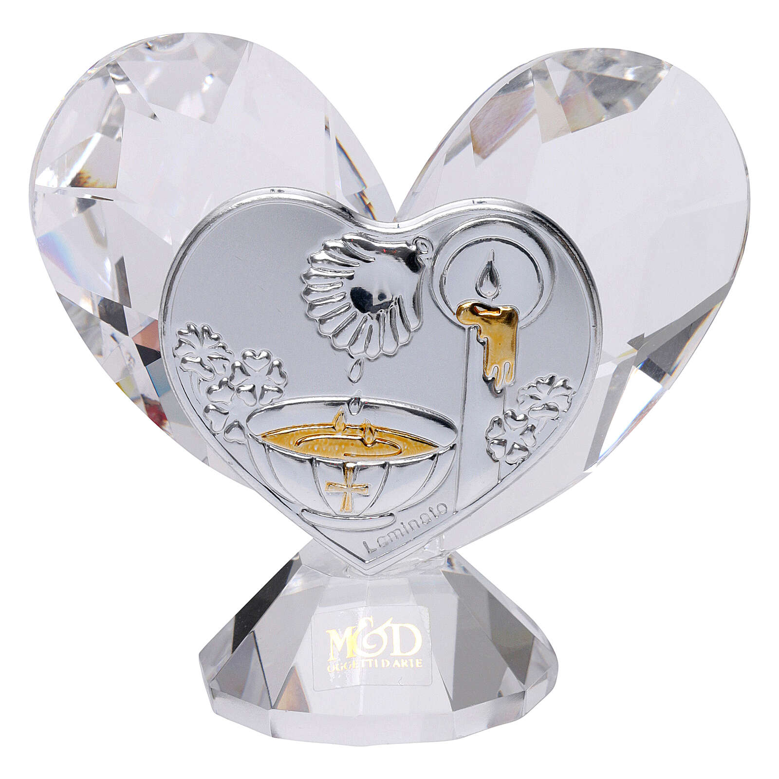 Heart shaped ornament Baptism souvenir 2x2 in 3