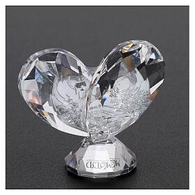 Heart shaped ornament Baptism souvenir 2x2 in s3
