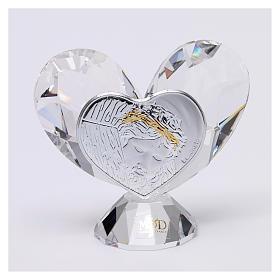Bombonera sagrada Rostro de Jesús corazón 5x5 cm s1