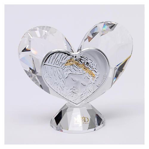 Bombonera sagrada Rostro de Jesús corazón 5x5 cm 1