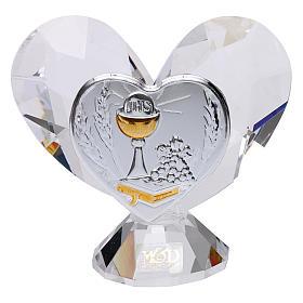 Bonbonnière Communion coeur 5x5 cm s1