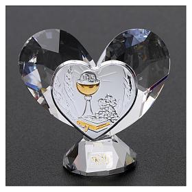 Bonbonnière Communion coeur 5x5 cm s2