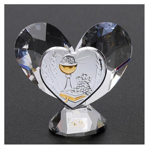 Bonbonnière Communion coeur 5x5 cm 2