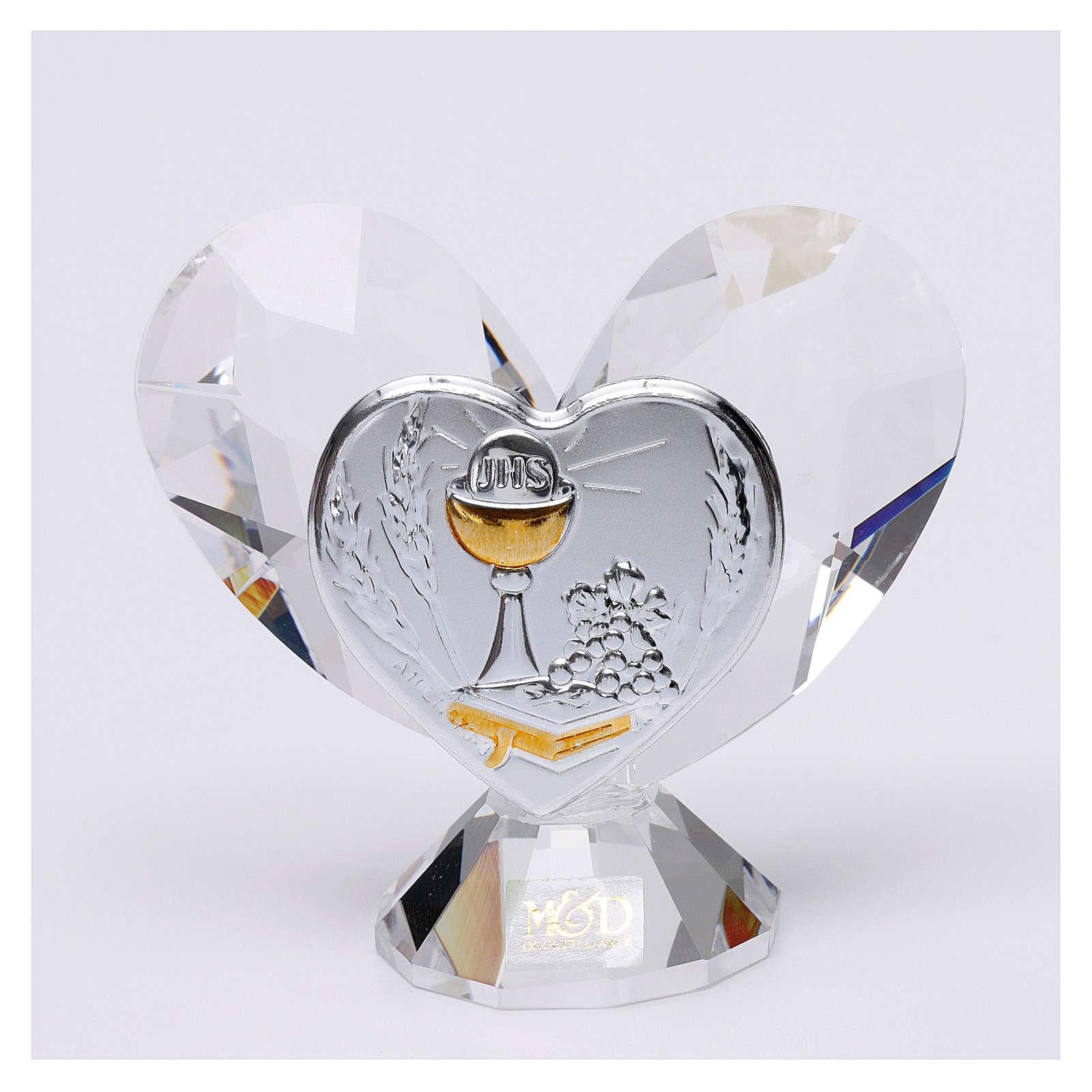 Bomboniera Comunione cuore 5x5 cm 3
