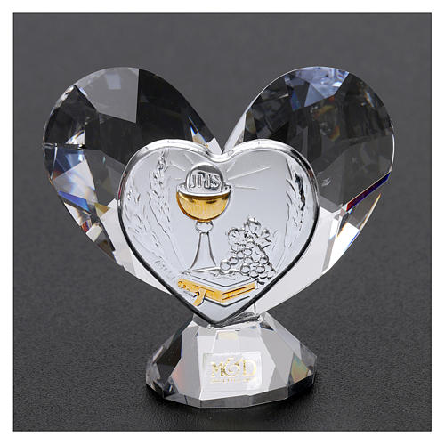 Bomboniera Comunione cuore 5x5 cm 2