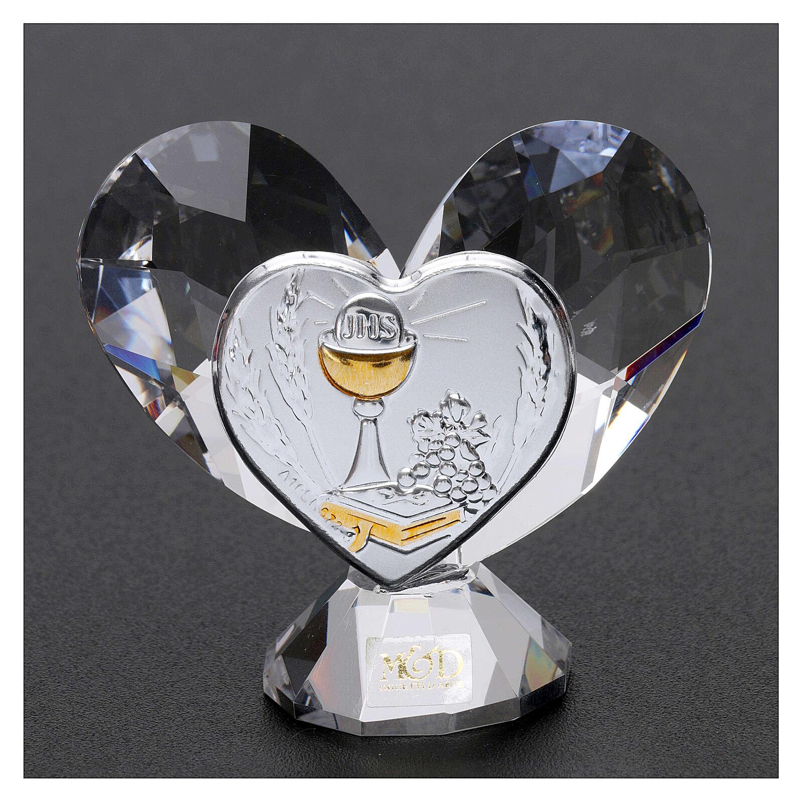 Heart shaped ornament Communion souvenir 2.2x2.4 in 3