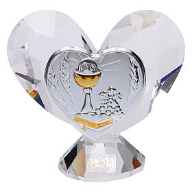 Heart shaped ornament Communion souvenir 2.2x2.4 in s1