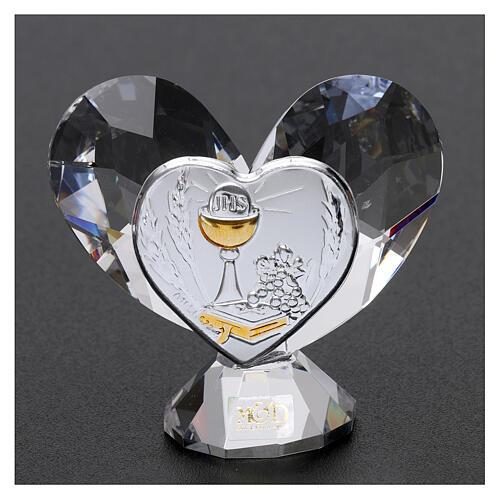 Heart shaped ornament Communion souvenir 2.2x2.4 in 2