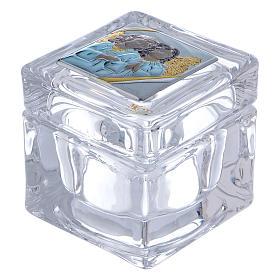 Bonbonnière religieuse boîte avec Anges 5x5x5 cm s1