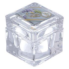 Pamiątka Komunii pudełko 5x5x5 cm s1